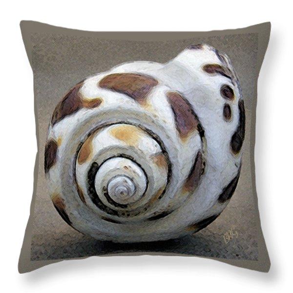 Seashells Spectacular No 2 Throw Pillow by Ben and Raisa Gertsberg