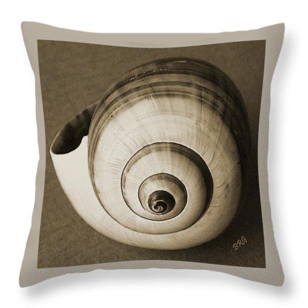 Seashells Spectacular No 25 Throw Pillow by Ben and Raisa Gertsberg