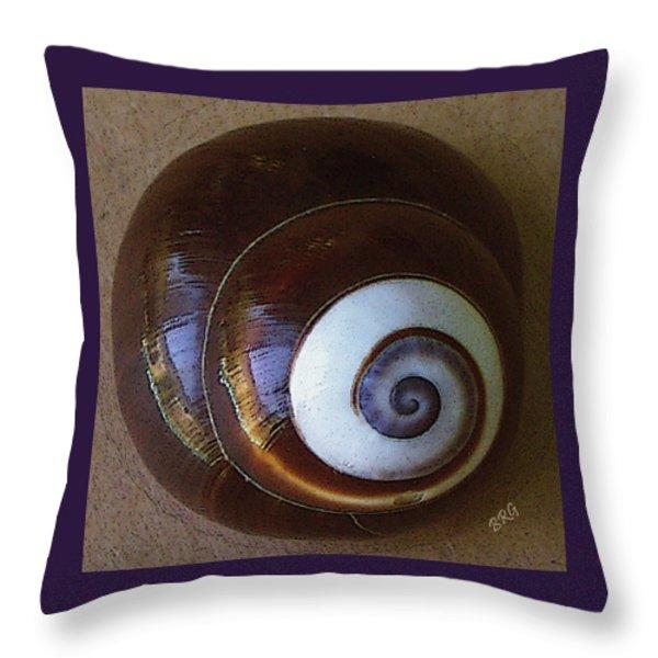 Seashells Spectacular No 26 Throw Pillow by Ben and Raisa Gertsberg