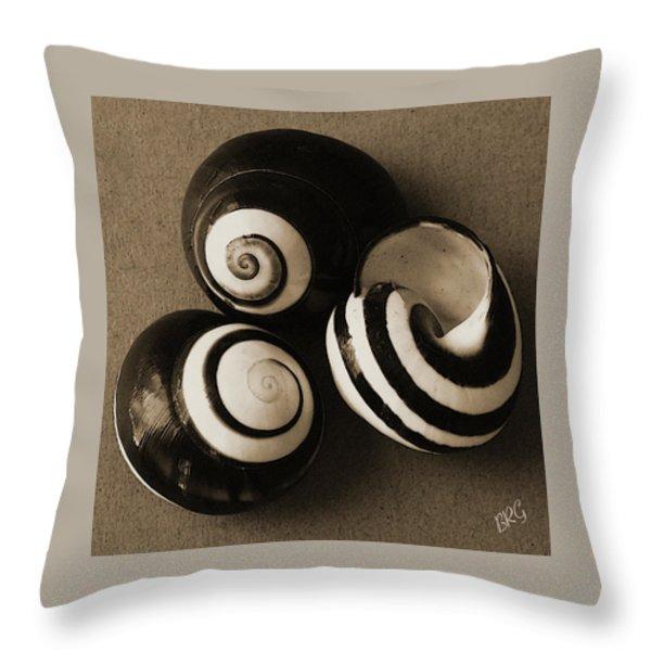 Seashells Spectacular No 27 Throw Pillow by Ben and Raisa Gertsberg