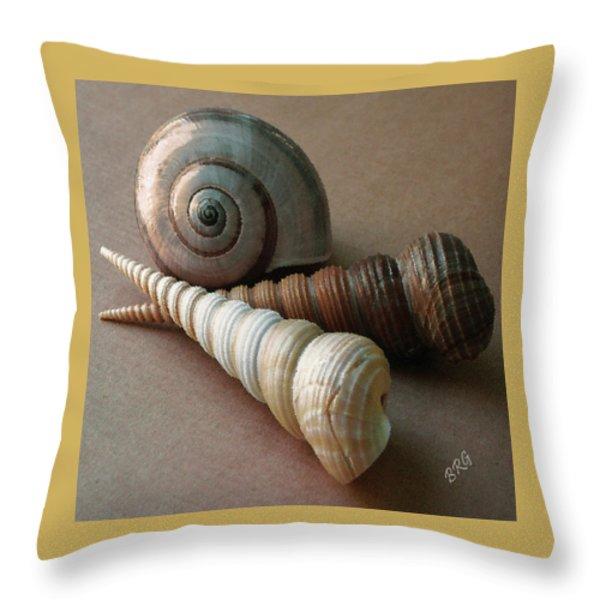 Seashells Spectacular No 29  Throw Pillow by Ben and Raisa Gertsberg