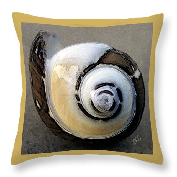 Seashells Spectacular No 3 Throw Pillow by Ben and Raisa Gertsberg