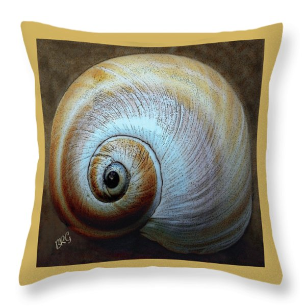 Seashells Spectacular No 36 Throw Pillow by Ben and Raisa Gertsberg