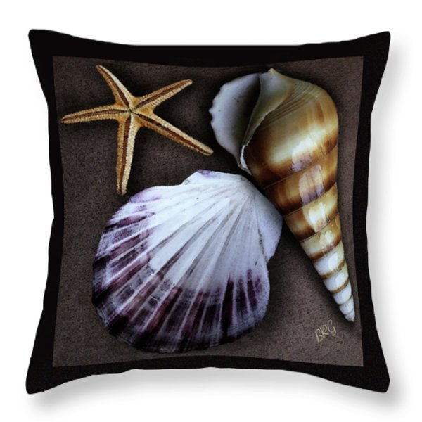 Seashells Spectacular No 37 Throw Pillow by Ben and Raisa Gertsberg