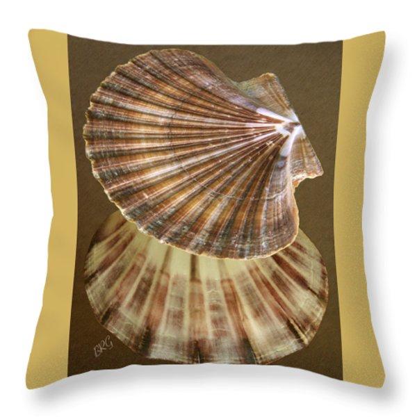 Seashells Spectacular No 54 Throw Pillow by Ben and Raisa Gertsberg