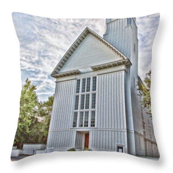 Seaside Chapel Throw Pillow by Scott Pellegrin