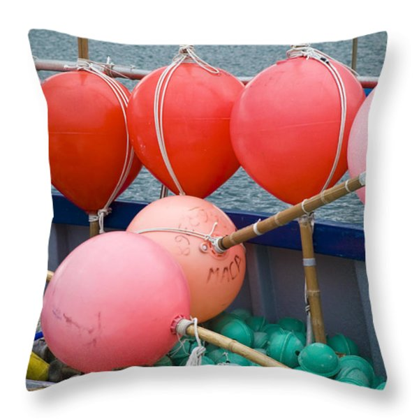 Seaside Colors Throw Pillow by Frank Tschakert