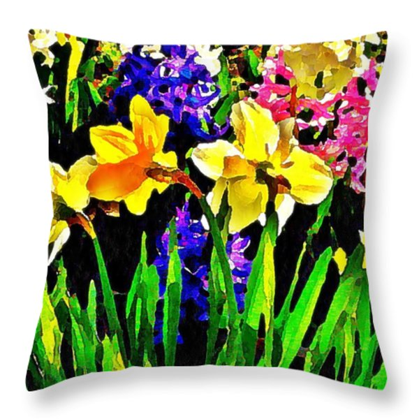 Seasonal Characters Throw Pillow by Chris Berry
