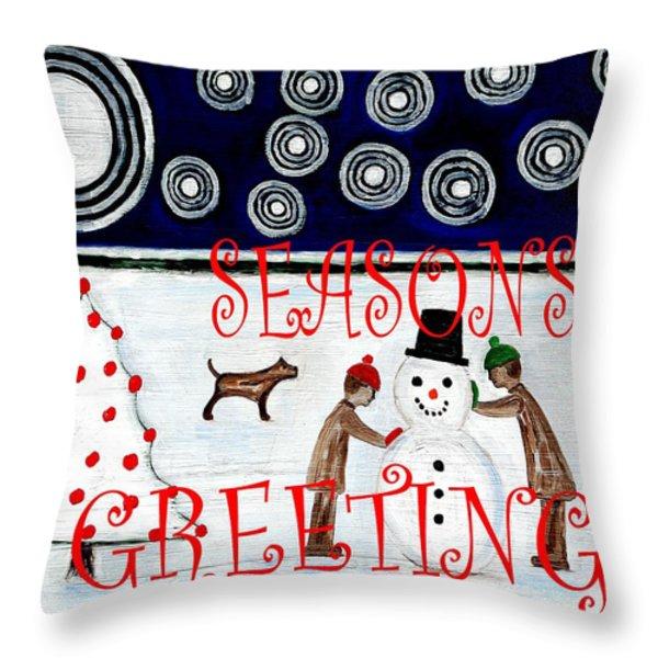 Seasons Greetings 14 Throw Pillow by Patrick J Murphy