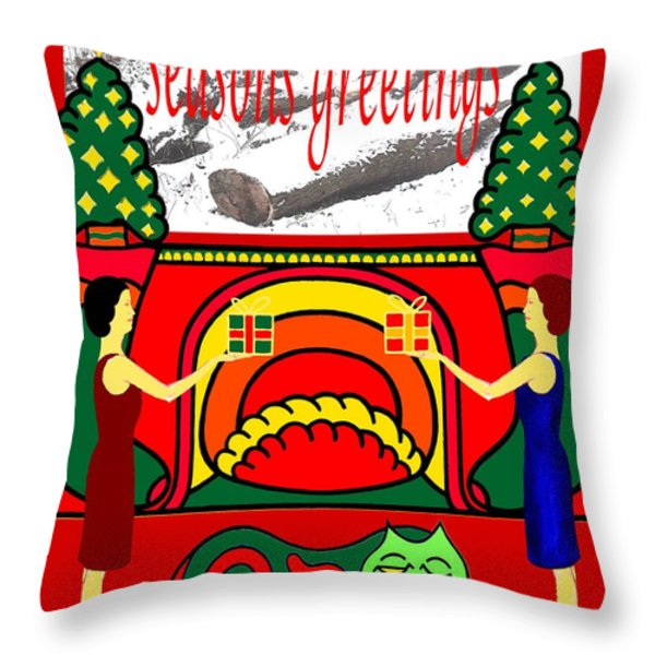 Seasons Greetings 18 Throw Pillow by Patrick J Murphy