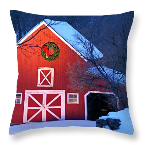 Seasons Greetings Throw Pillow by Thomas Schoeller