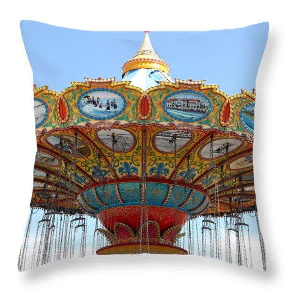 Seaswings At Santa Cruz California 5D23888 Throw Pillow by Wingsdomain Art and Photography
