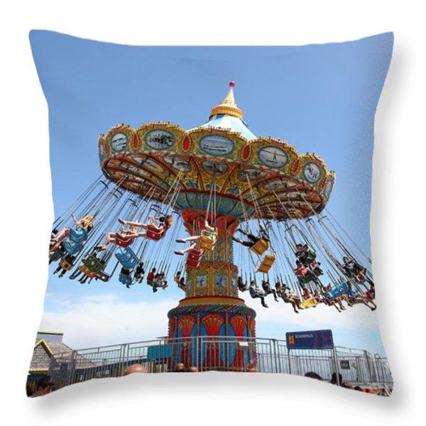 Seaswings At Santa Cruz California 5D23894 Throw Pillow by Wingsdomain Art and Photography