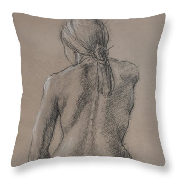 Seated Figure Throw Pillow by Sarah Parks