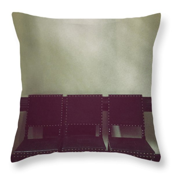 Seating for Three Throw Pillow by Margie Hurwich