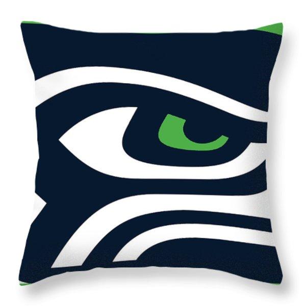 Seattle Seahawks Throw Pillow by Tony Rubino