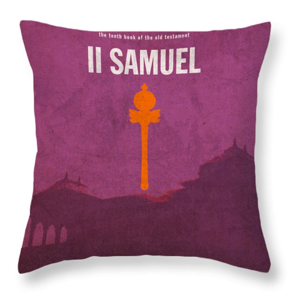 Second Samuel Books of the Bible Series Old Testament Minimal Poster Art Number 10 Throw Pillow by Design Turnpike