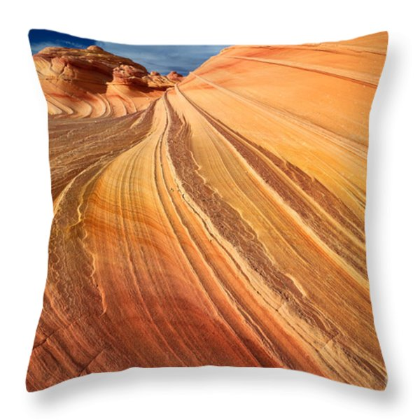 Second Wave Surf Throw Pillow by Inge Johnsson