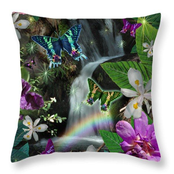 Secret Butterfly Throw Pillow by Alixandra Mullins