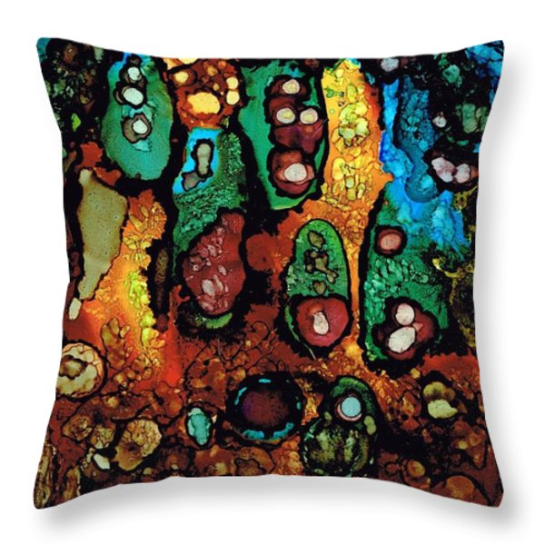 Secret Caves.. Throw Pillow by Jolanta Anna Karolska