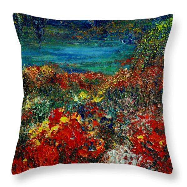 SECRET GARDEN Throw Pillow by TERESA WEGRZYN