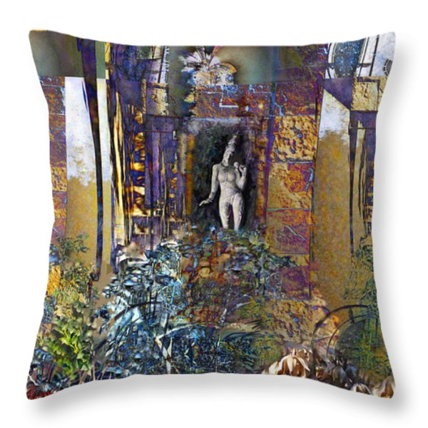 Secret Garden Throw Pillow by Ursula Freer