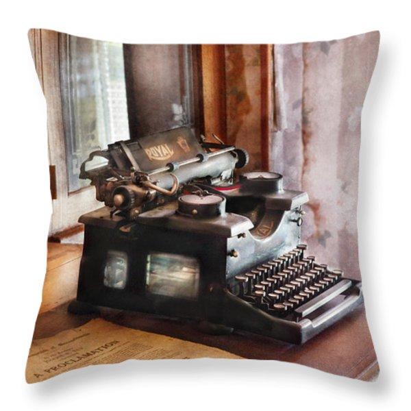 Secretary - Secretaries Day Throw Pillow by Mike Savad