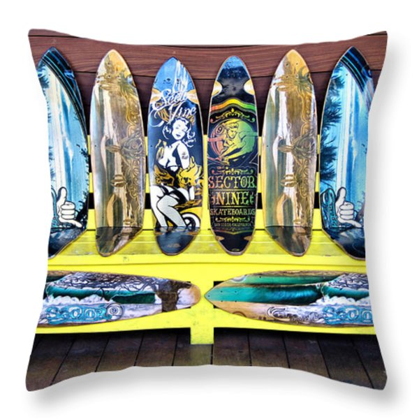 Sector Nine Skateboards Throw Pillow by Cheryl Young