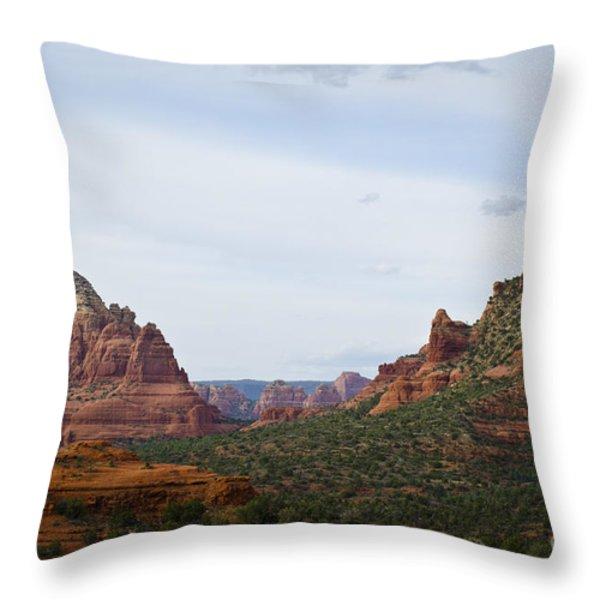 Sedona Landscape IX Throw Pillow by David Gordon