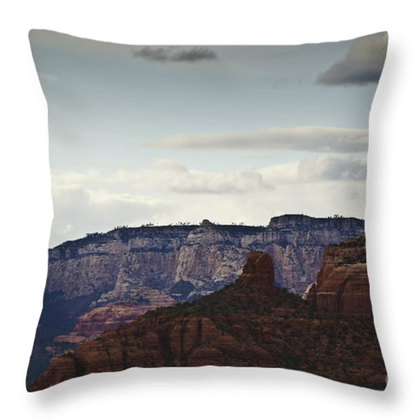 Sedona Landscape Xii Throw Pillow by David Gordon