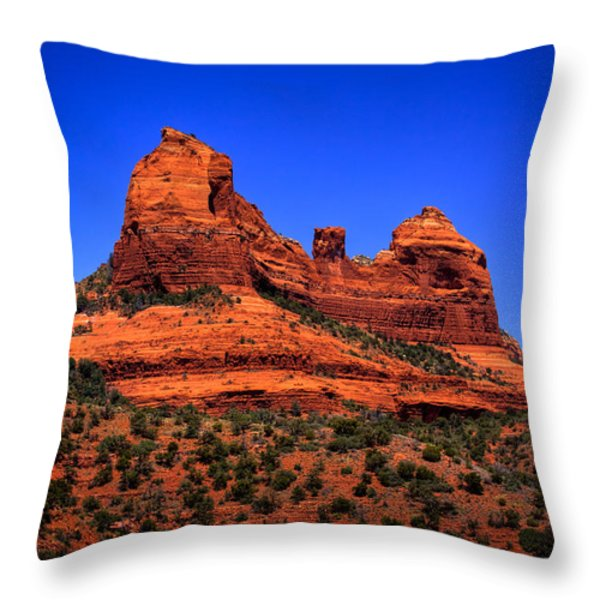Sedona Rock Formations Throw Pillow by David Patterson