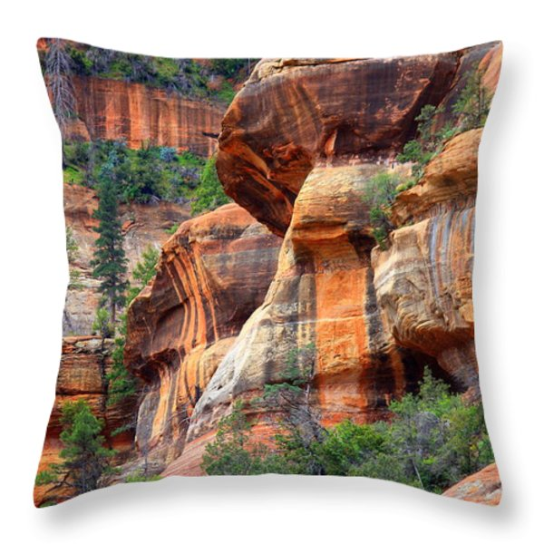 Sedona Stripes Throw Pillow by Carol Groenen