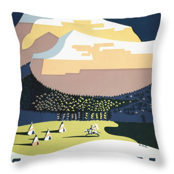 See America - Montana Throw Pillow by Nomad Art And  Design