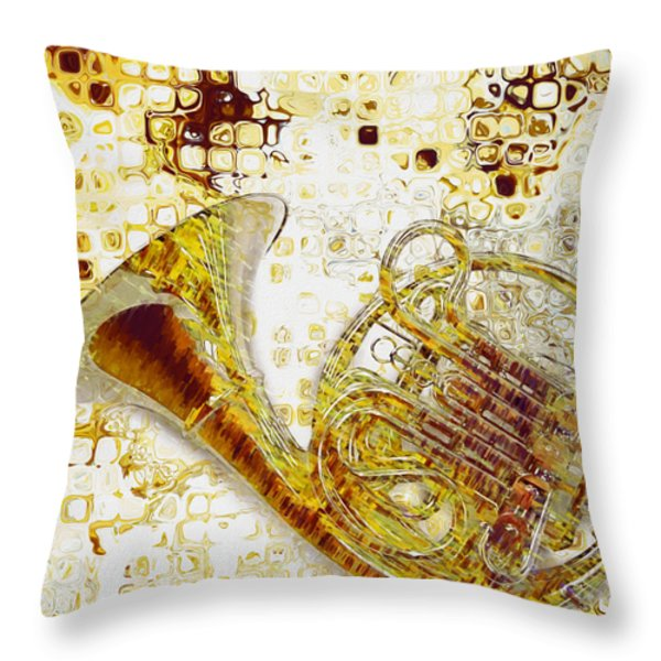 See The Sound Throw Pillow by Jack Zulli