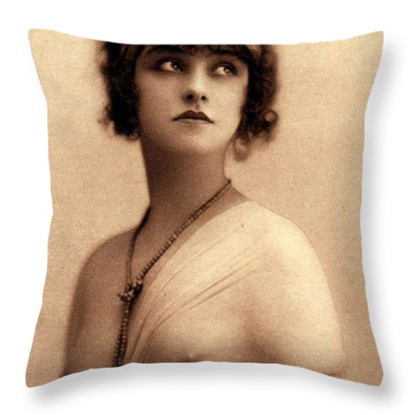 See Through Blouse Throw Pillow by Unknown