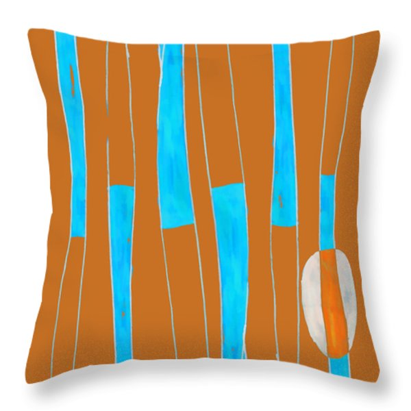 Seed of Learning No. 2 Throw Pillow by Carol Leigh