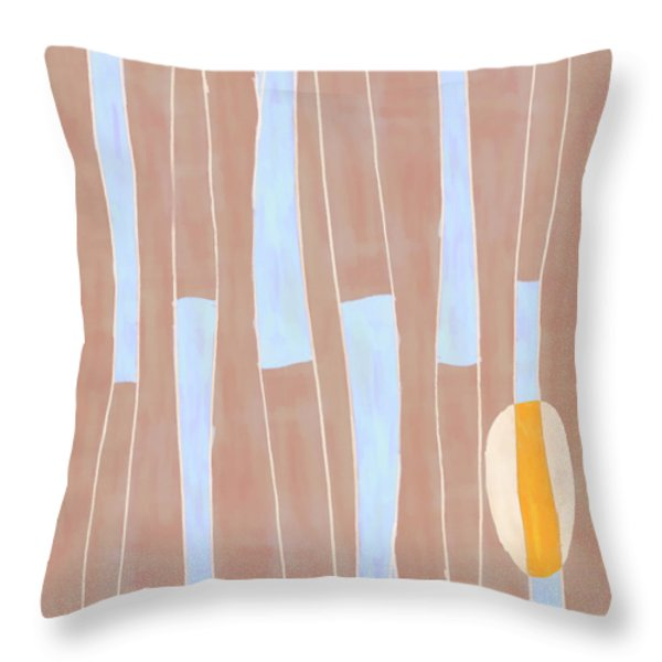 Seed of Learning No. 3 Throw Pillow by Carol Leigh