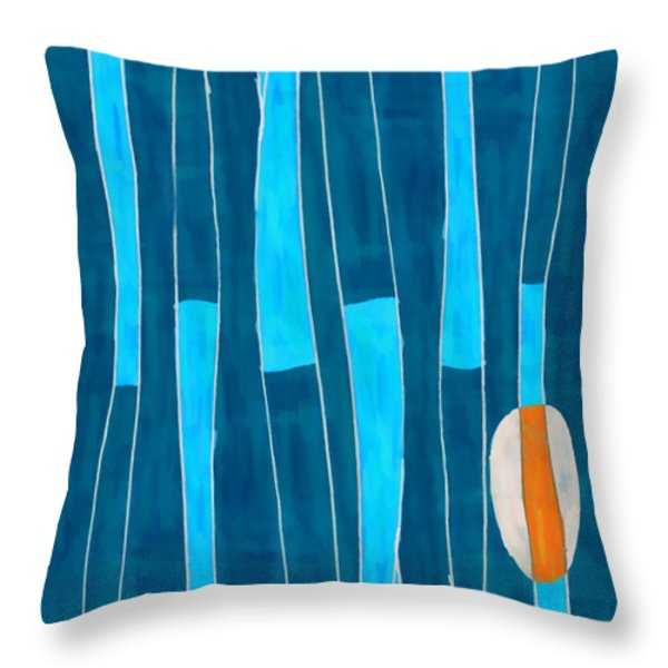 Seed of Learning No. 5 Throw Pillow by Carol Leigh