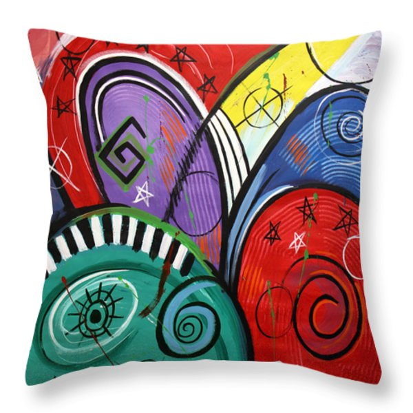Seek The Kingdom Of God Throw Pillow by Anthony Falbo