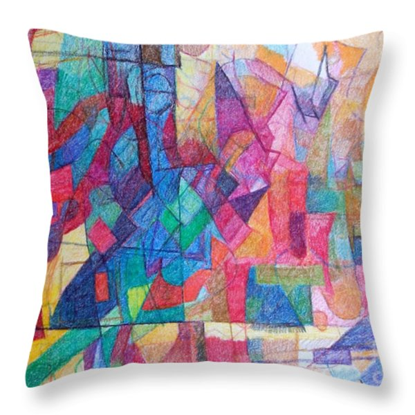 Seeking The Path To The Next World 1 Throw Pillow by David Baruch Wolk