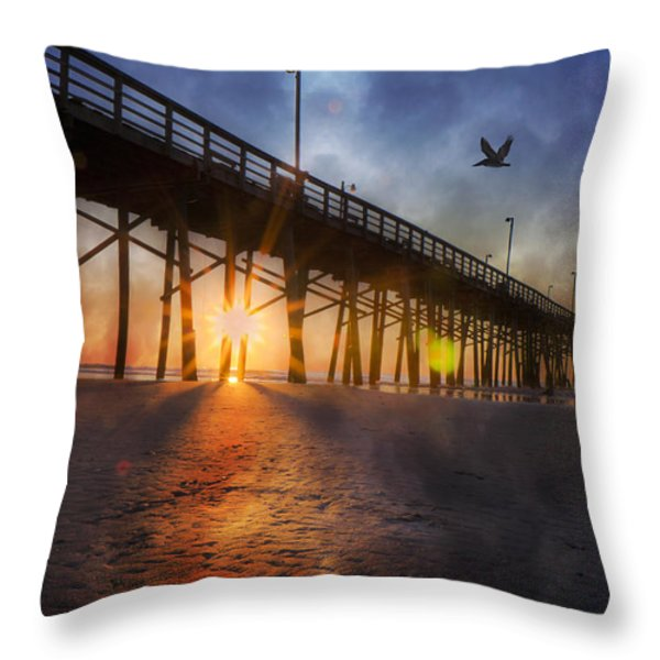 Seize the Day Throw Pillow by Betsy A  Cutler