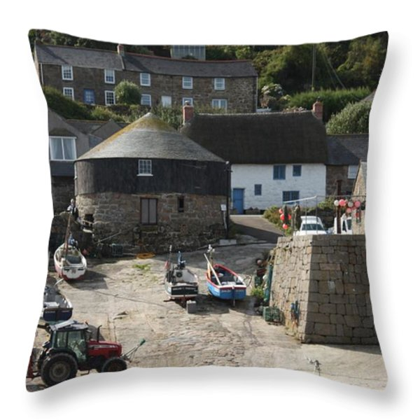 Sennen Cove Throw Pillow by Linsey Williams