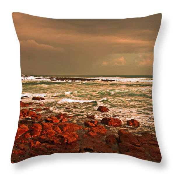 Sennen storm Throw Pillow by Linsey Williams