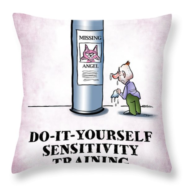 Sensitivity Training Throw Pillow by Mark Armstrong