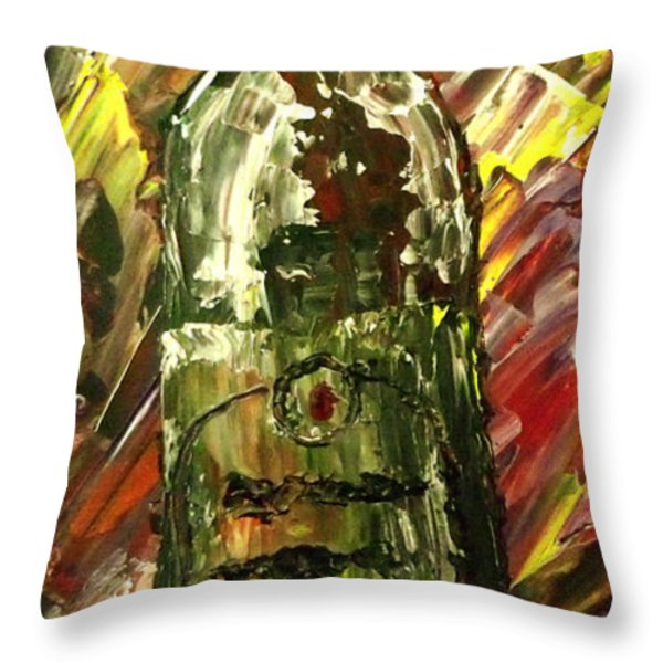 Sensual Explosion Bottle 2 Throw Pillow by Mark Moore