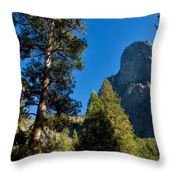 Sentinel Dome, Yosemite Np Throw Pillow by Mark Newman