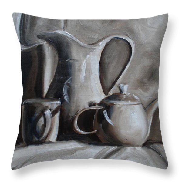Sepia Still Life Throw Pillow by Donna Tuten