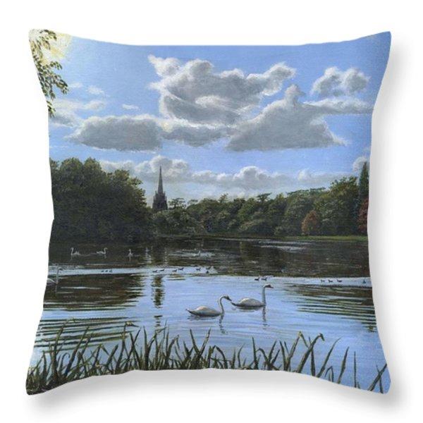 September Afternoon in Clumber Park Throw Pillow by Richard Harpum