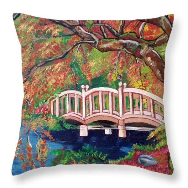 September Bridge Throw Pillow by John Keaton