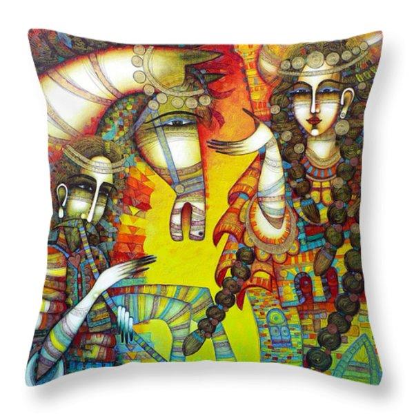 Serenade Throw Pillow by Albena Vatcheva